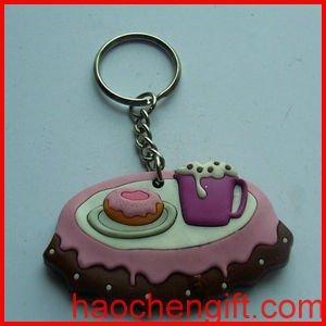 Best plastic key chain/ pvc key charm/ vinyl key ring wholesale