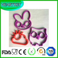Quality DIY owl shape silicone egg mould and Skull Rabbit Cloud shape Egg Ring Pancake for sale