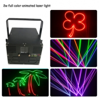 Quality 2w full color animation indoor laser effect light laser beam stage light for sale
