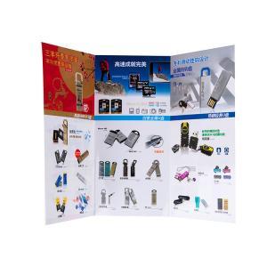 China custom luxury full color a5 tri fold leaflet flyer printing design manufacturer on sale