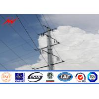 Best 69KV Mediume Voltage Line 4mm Thickness Galvanized Steel Tubular  With Earth Rod Accessories wholesale