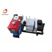 Quality 5T Double Capstan Cable Pulling Winch Machine Puller Hoist , Cable Winch Puller for sale