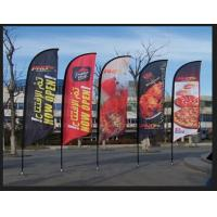 China UV Proof Outdoor Flag Banners Custom Feather Flag Stand For Advertising on sale