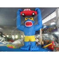 Best Professional Inflatable Cartoon Characters , Cute 5m Blue Inflatable Colossus wholesale