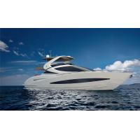 Buy cheap Luxurious 78 Foot Motor Yacht With Flying Bridge Black And White Colour from wholesalers