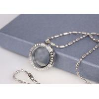 Quality Unisex Stainless Steel Fashion Jewelry Round Glass Blank Locket Pendant for sale