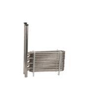 Quality Industrial Shell 220V Combined Titanium Coaxial Coil Heat Exchanger for sale