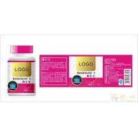 China Gloss Paper Custom Plastic Bottle Labels For Bottled Health Care Products on sale