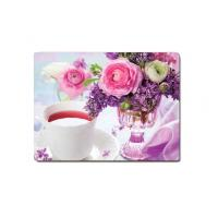 China Decorative Flower PET Printing 3D Lenticular Plastic Table Mats Offset Printing on sale