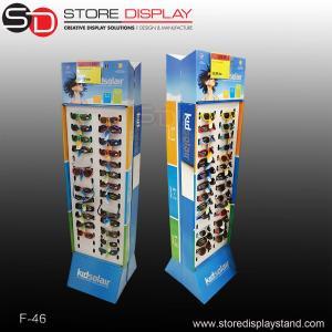 China customized 2 sides eyewear display,double sides eyeglasses floor display stand on sale