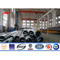 Best Shockproof Galvanised Steel Transmission Poles / Straight Pole Tolerance +/-2% wholesale