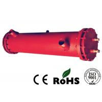 Quality Red Tube Heat Exchanger Oil Cooler Water Cooler With Carbon Steel Shell Material for sale