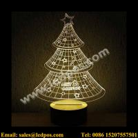 Best 3D Christmas Tree Visual Acrylic LED USB Table Light wholesale
