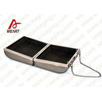 China Grey Cardboard Gift Contanier Customized Paper Box Flat Tape Rope on sale