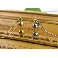 Quality Stainless Steel Tibetan Buddhist Jewelry , Gold Plated Stupa Buddhist Symbol Jewelry Necklace for sale