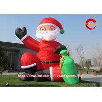 Oxford Cloth / PVC Inflatable Christmas Decorations Water And Fire Proof