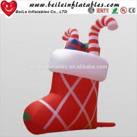 China Giant inflatable Christmas decoration Inflatable Shoes For Gift on sale