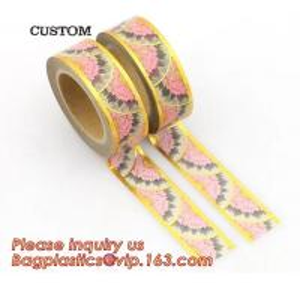 Quality foil tape custom printed decorative washi foil tape,Assorted Designs Christmas Washi Masking Tape,Logo Printed Gold Foil for sale