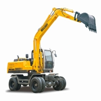 China Multifunction 90KN 12500kg 0.5m3 Wheel Excavator for sale