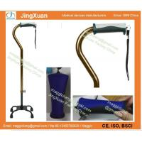 China The ergonomic cane handle, Adjustable Quad Cane for Right or Left Hand Use, Small Base on sale
