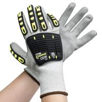 China PU Palm Coated Cut Proof Work Gloves Industrial Glass Handing Customized Logo on sale