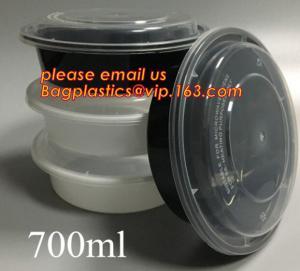 Quality white disposable plastic salad bowl,PLA 16oz 500ml plastic - disposable salad bowl with lid,PP disposable clear plastic for sale
