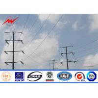 Best S500MC Hot Dip Galvanized Steel Power Transmission Poles For 132kv Electrical Project wholesale