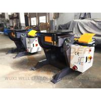 Buy cheap 24 Inch Table Rotary Welding Positioner Manual Tilting Motorized Rotation from wholesalers