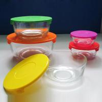 Best high quality clear glass bowl with plastic lid, salad bowl, fresh bowl for sale wholesale