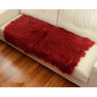 China 10 -15cm Wool Large Sheepskin Area Rug , Sheepskin Runner Rug For Home Sofa Seat Cover on sale
