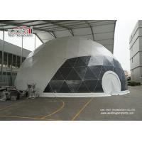 White Roof Cover With Transparent Entrance For  Steel Geodesic Dome Tent For Event