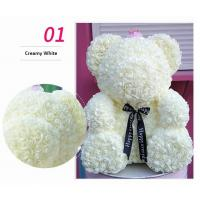 China Preserved Flower Rose Teddy Bear PE for Valentines Day Gifts  Factory Price Artificial Flower Gaint Teddy Bear on sale