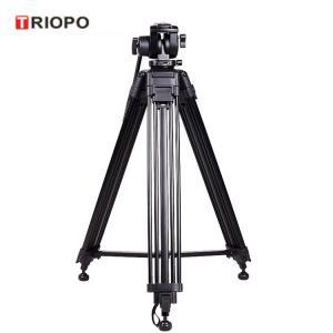 China TRIOPO professional aluminum video camera DV tripod for DSLR Nikon Canon EOS with black color on sale