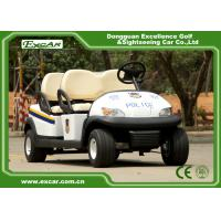 Quality EXCAR Open Roof Police Electric Patrol Car With Trojan Battery for sale