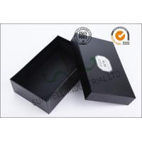 Quality Black Luxurious Leather Belt Corrugated Packaging Boxes Custom Logo Printed for sale