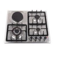 Quality Kitchen Gas And Electric Hob , Gas Induction Hob Surface Brushed Treatment for sale