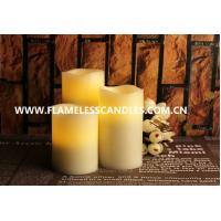 Best Flameless LED Pillar Candles Set With Moving Sensor wholesale