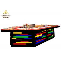 Quality Bridge Shape Rainbow Color Gas Teppanyaki Grill Table With Exhaustion System for sale