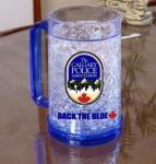Quality plastic beer mug PS material beer mug custom LOGO ICE BEER MUG for sale