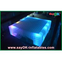 Quality OEM Led Cube Giant Inflatable Air Tent For Fairs , 14 X 14m for sale