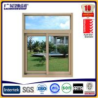 Quality cheap price aluminium glass sliding windows with mosquito net for sale
