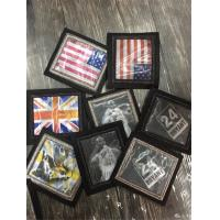 Best American Flag with Skull and Crossbones Aquare Shaped Handmade Embroidery Patch Custom Bullion Badges wholesale