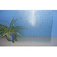 China Wire Pattern Decorative Glass Panels Heat Resistance For Showcase on sale
