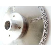 Buy Fast Cutting Vacuum Brazed Diamond Blades With Flange , Diamond Saw Blades For Stone at wholesale prices