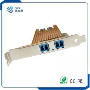 Quality Dual Port Fiber 10 Gigabit Ethernet PCI Express Bypass Server Adapter Intel 82599ES Based for sale