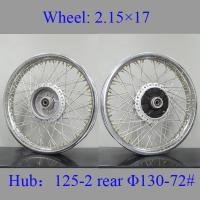Quality Sturdy Spoked Motorcycle Wheels High Tensile Strength 304 Stainless Steel for sale
