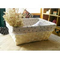 Quality wood basket storage box sundries basket for sale