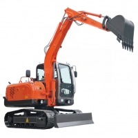 Quality 6.3 Ton Crawler Road Builder Excavator With 48KW Engine for sale