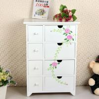 China Painting Style Bedroom Corner Cabinet Wooden Drawers Bathroom Furniture on sale