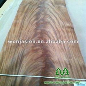 China Natural Mahogany Crotches Veneer , Mahogany Wood Veneer for hotel design on sale